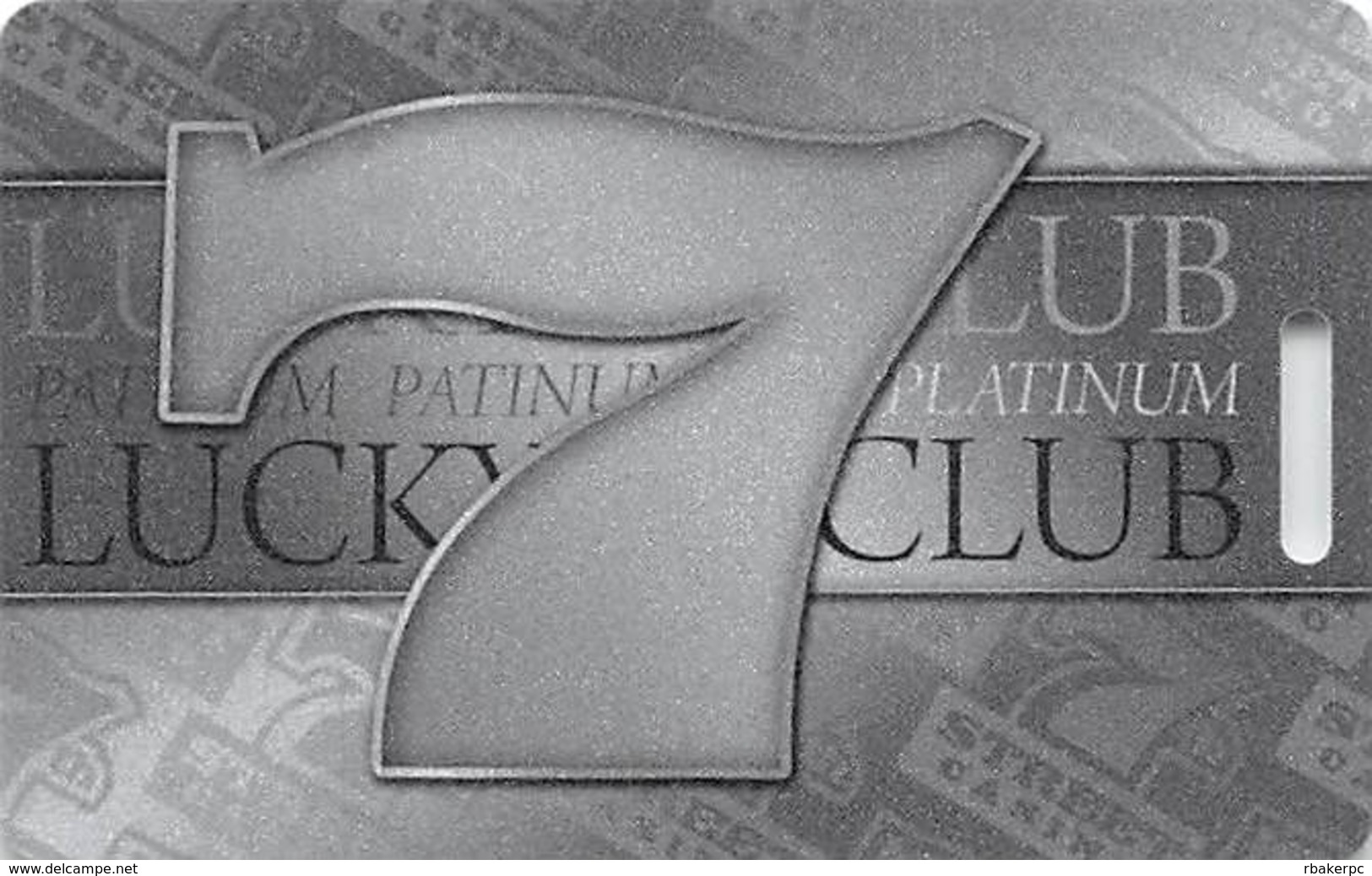 7th Street Casino - Kansas City, KS - BLANK Slot Card - PG Mfg Mark - Casino Cards