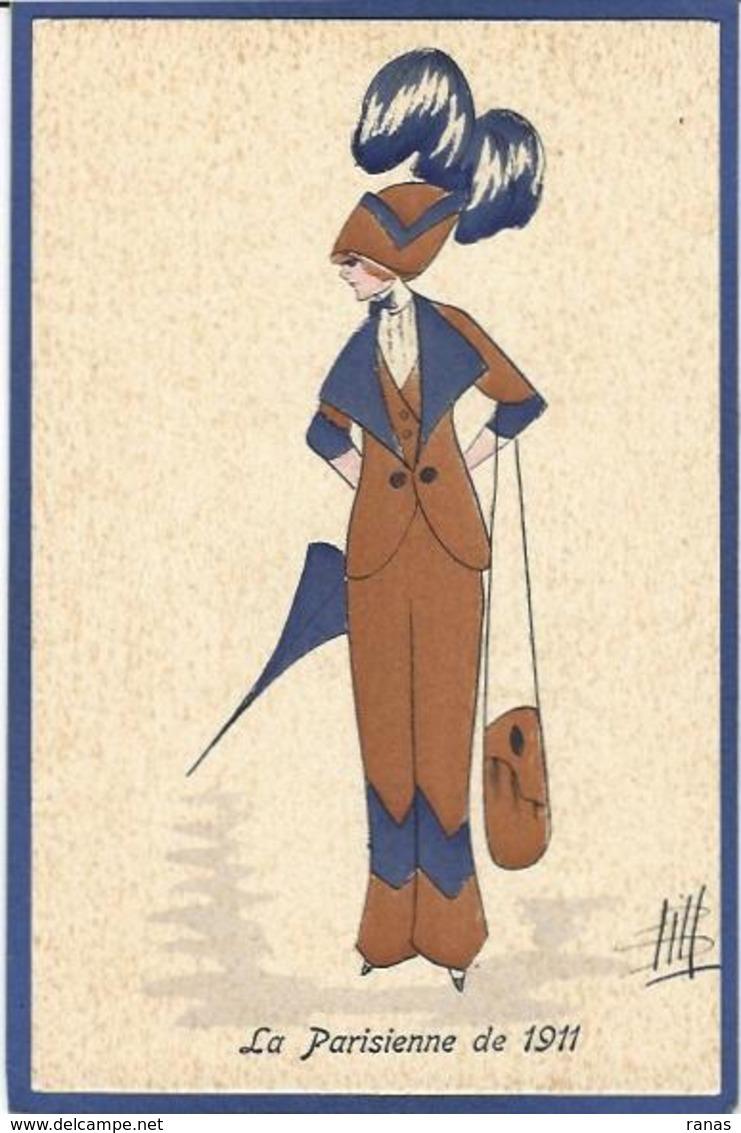 CPA Bill Chapeau Mode Femme Girl Women Non Circulé Glamour GH Série 31 - Moda