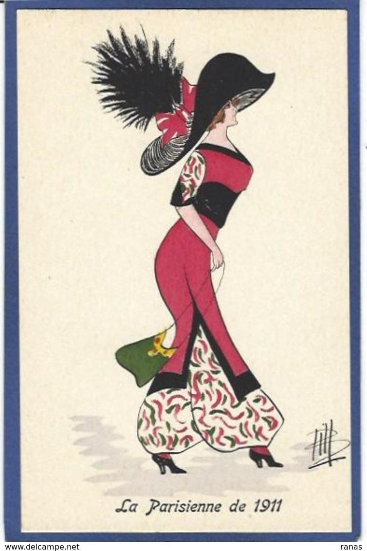 CPA Bill Chapeau Mode Femme Girl Women Non Circulé Glamour GH Série 31 Type Sager Roberty - Moda