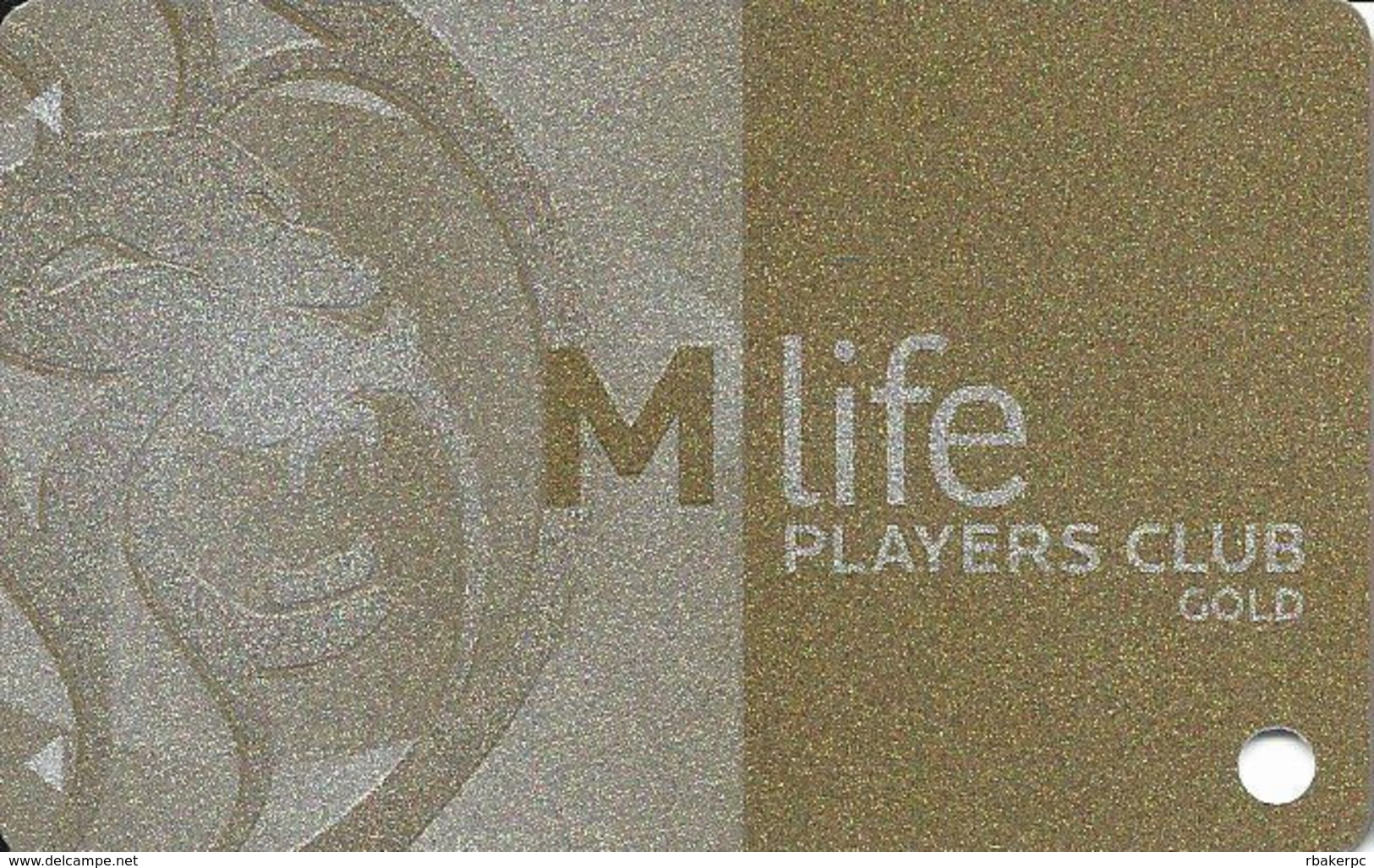 MGM Casinos - Multiple Locations - BLANK Gold Slot Card With No Text Over Mag Stripe & Bottom Text Indented - Casino Cards