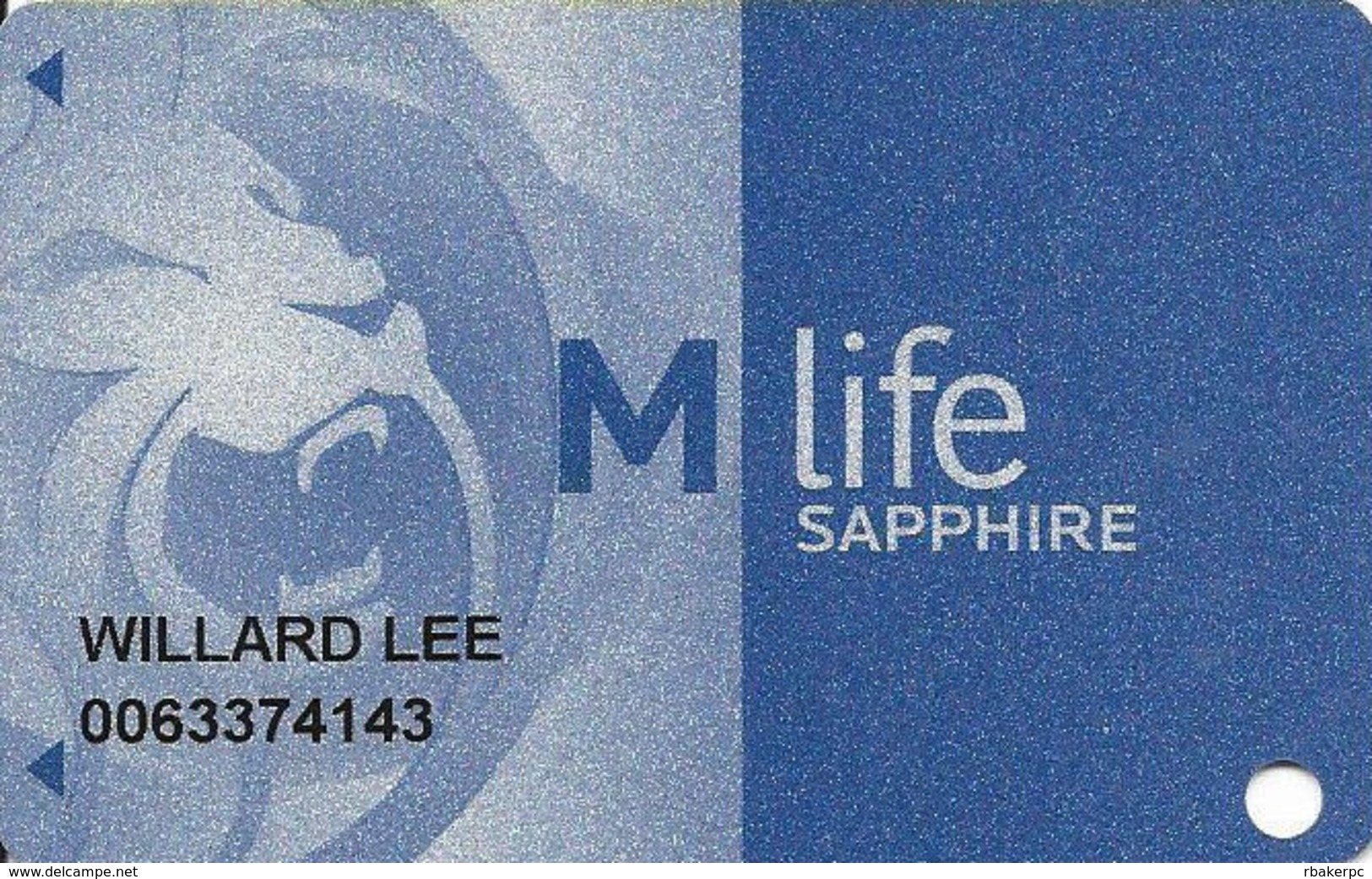 MGM Casinos - Multiple Locations - Slot Card With C-00254893R Over Mag Stripe & Bottom Text NOT Indented - Casino Cards