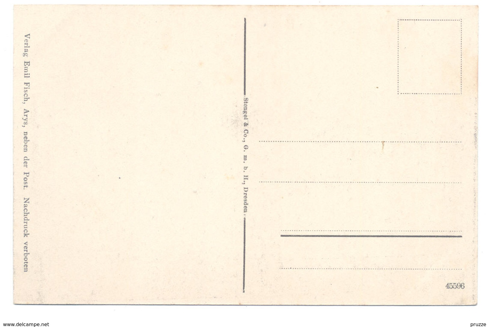 Arys, Ostpreussen Ca. 1910, Marktplatz Und Lötzenerstrasse - Ostpreussen