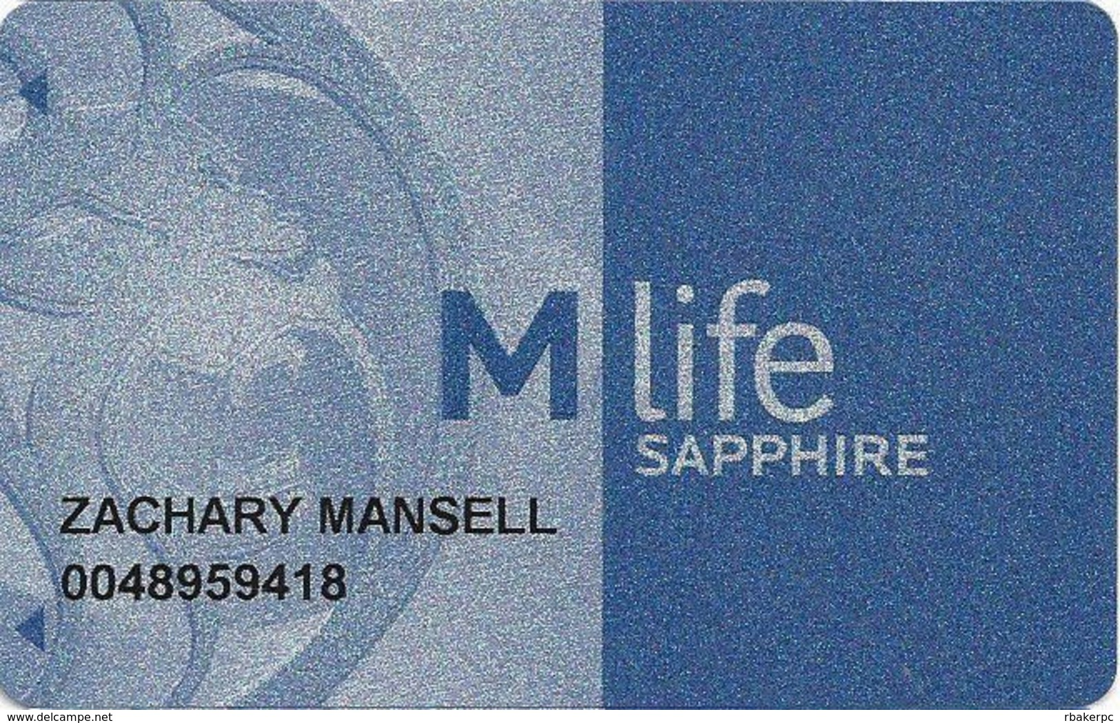 MGM Casinos - Multiple Locations - MLife Sapphire Slot Card - Bottom Text NOT Indented - Casino Cards