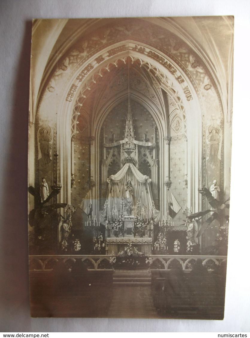 Carte Postale Bourg (52) Intérieur De L'Egilse ( Petit Format Noir Et Blanc Correspondance 1915 ) - Autres Communes