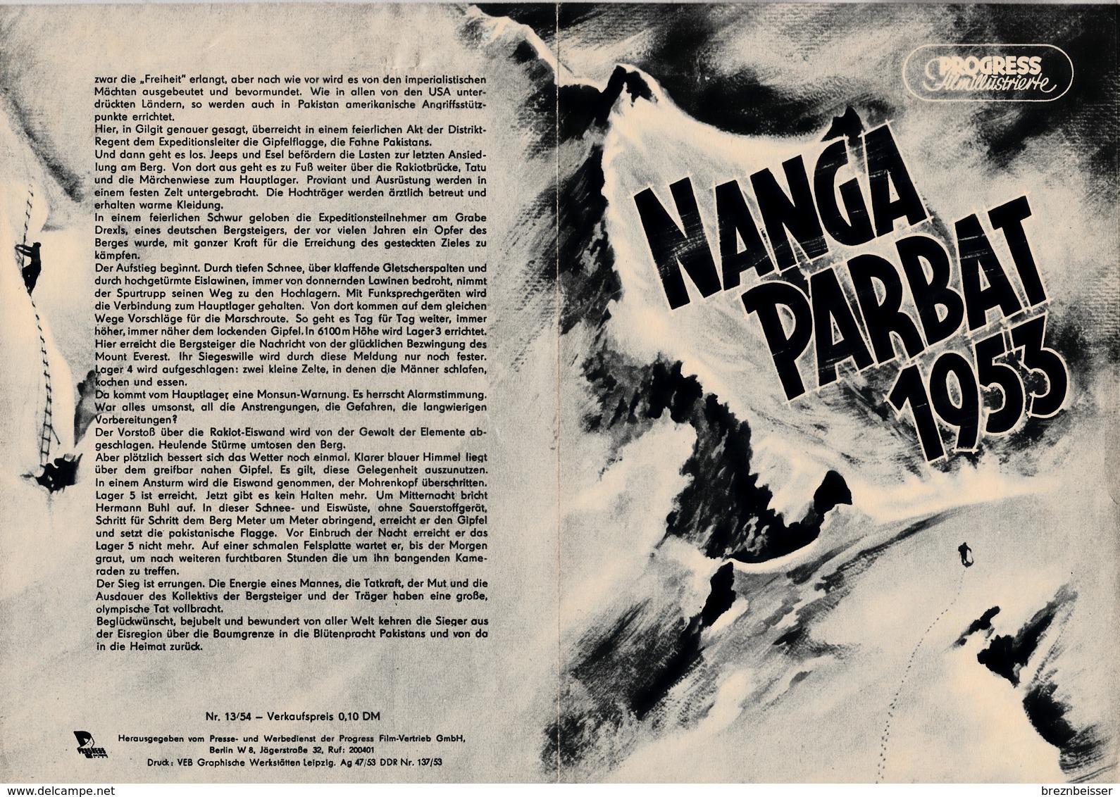 Progress Filmillustrierte Nr.13/54 NANGA PARBAT 1953 - Zeitschriften