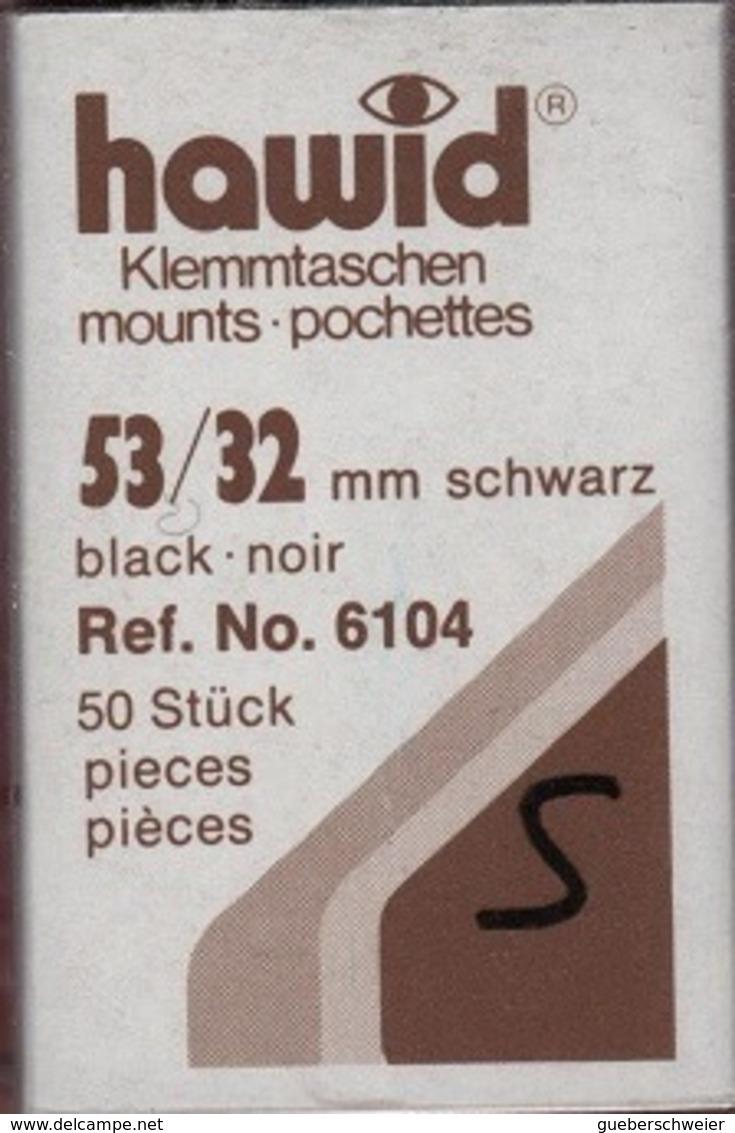 Paquet De 50 Pochettes Noires Hawid Simple Soudure Format 53 X 32  à  - 50% - Bandes Cristal