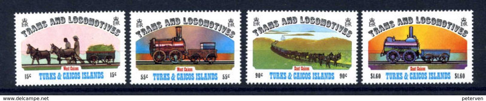 TURKS & CAICOS 1983: Eisenbahnen; Postfrisch/MNH - Trains