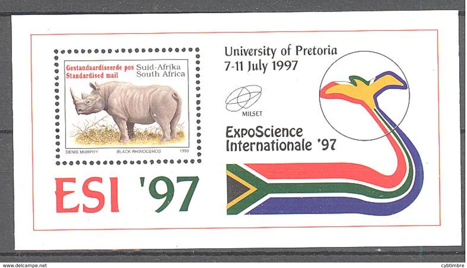 Afrique Su Sud: Yvert N° BF 57**; Rhinoceros - Blocs-feuillets