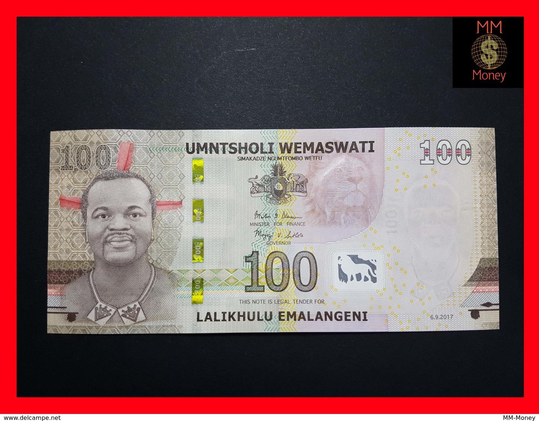 SWAZILAND  100 Emalangeni 6.9.2017 P. NEW UNC - Swaziland