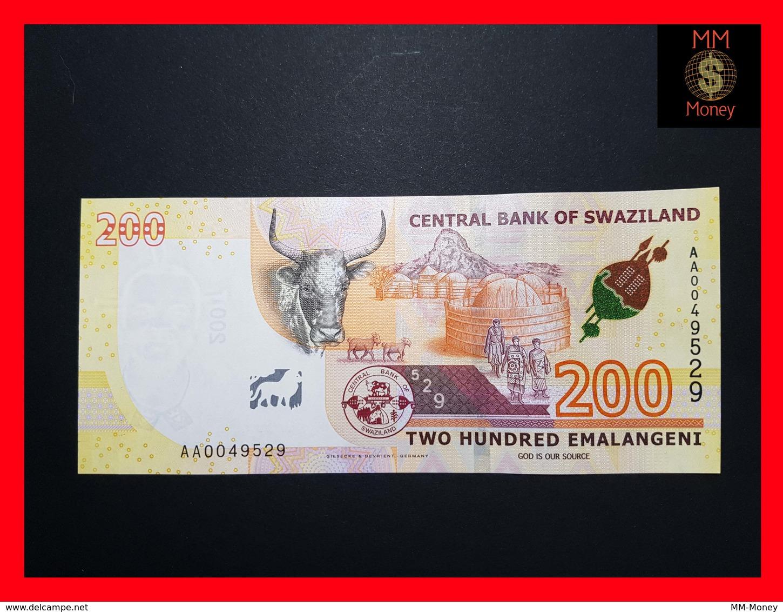 SWAZILAND  200 Emalangeni 6.9.2017 P. NEW UNC - Swaziland