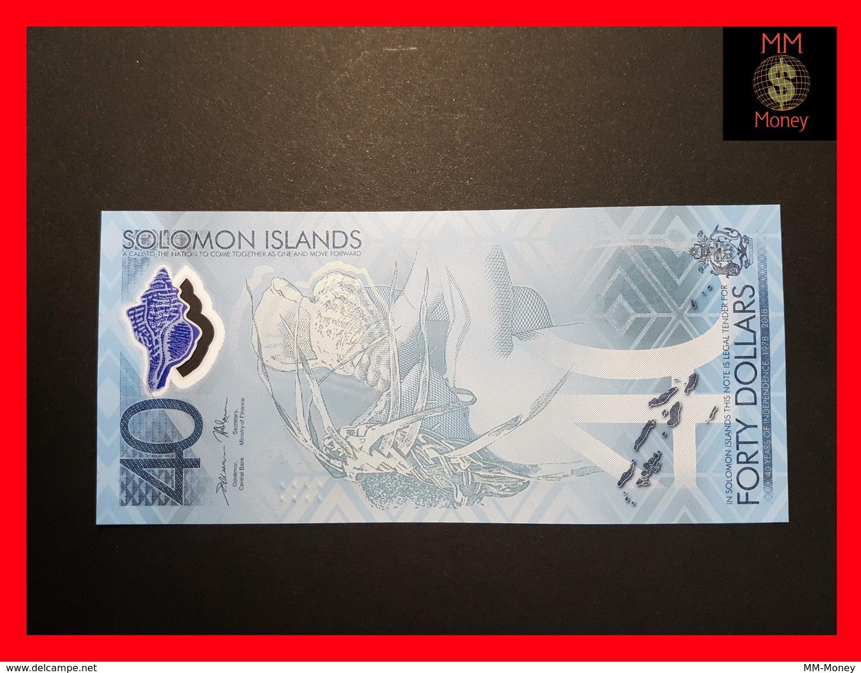 SOLOMON ISLANDS   40 Dollars 2018 P. NEW *COMMEMORATIVE* POLYMER UNC - Salomons
