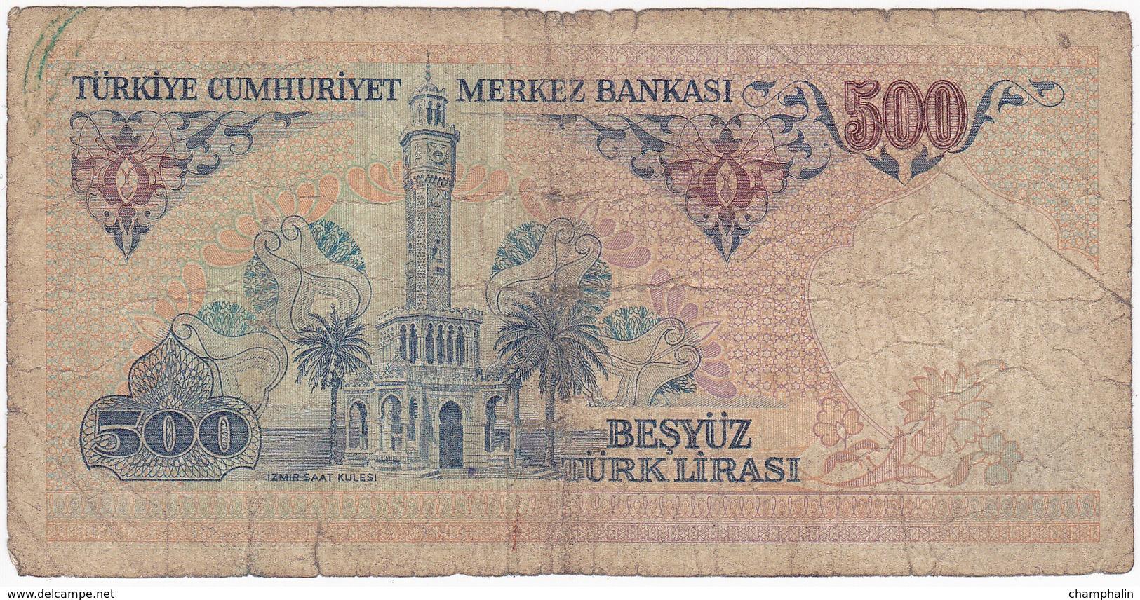 Turquie - Billet De 500 Lira - 14 Janvier 1970 - Turchia