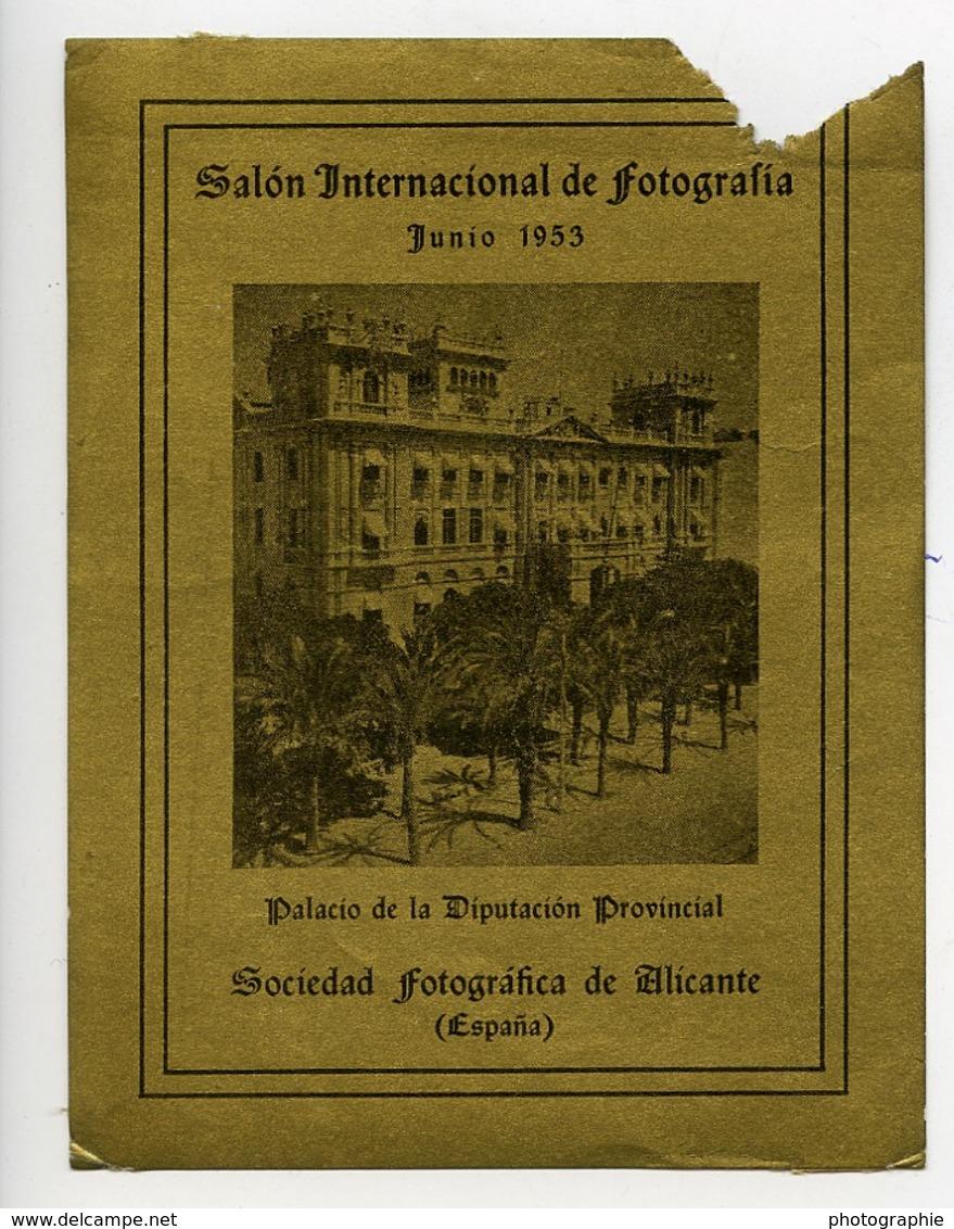 Espagne Alicante Etiquette Salon Photographique International 1953 - Old Paper