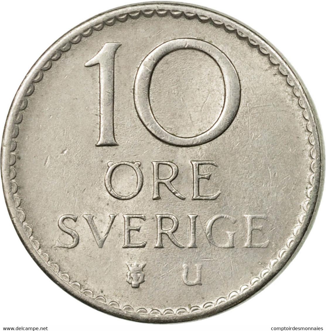 Monnaie, Suède, Gustaf VI, 10 Öre, 1972, TTB, Copper-nickel, KM:835 - Suède