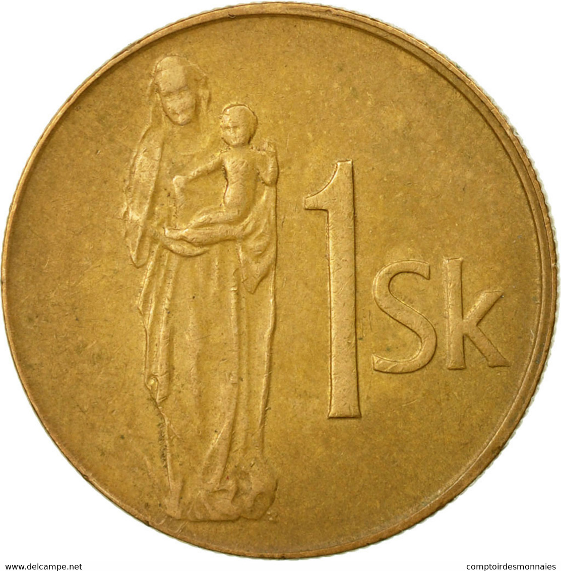 Monnaie, Slovaquie, Koruna, 1993, TB+, Bronze Plated Steel, KM:12 - Slovaquie