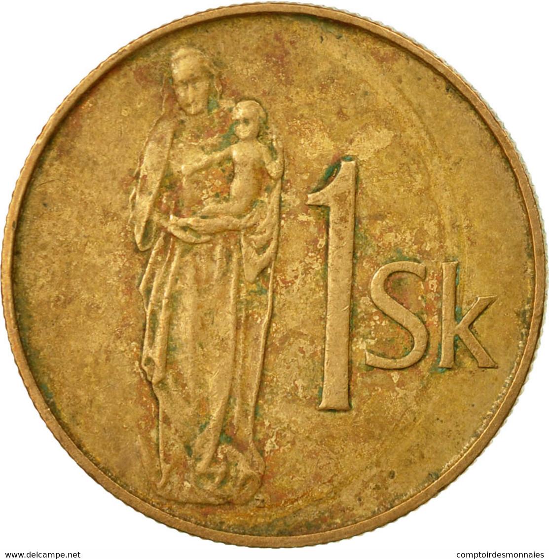 Monnaie, Slovaquie, Koruna, 1995, TB+, Bronze Plated Steel, KM:12 - Slovaquie