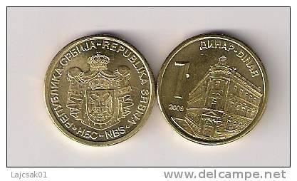 Serbia Serbie 1 Dinar 2009. KM#48 MAGNETIC - Serbie