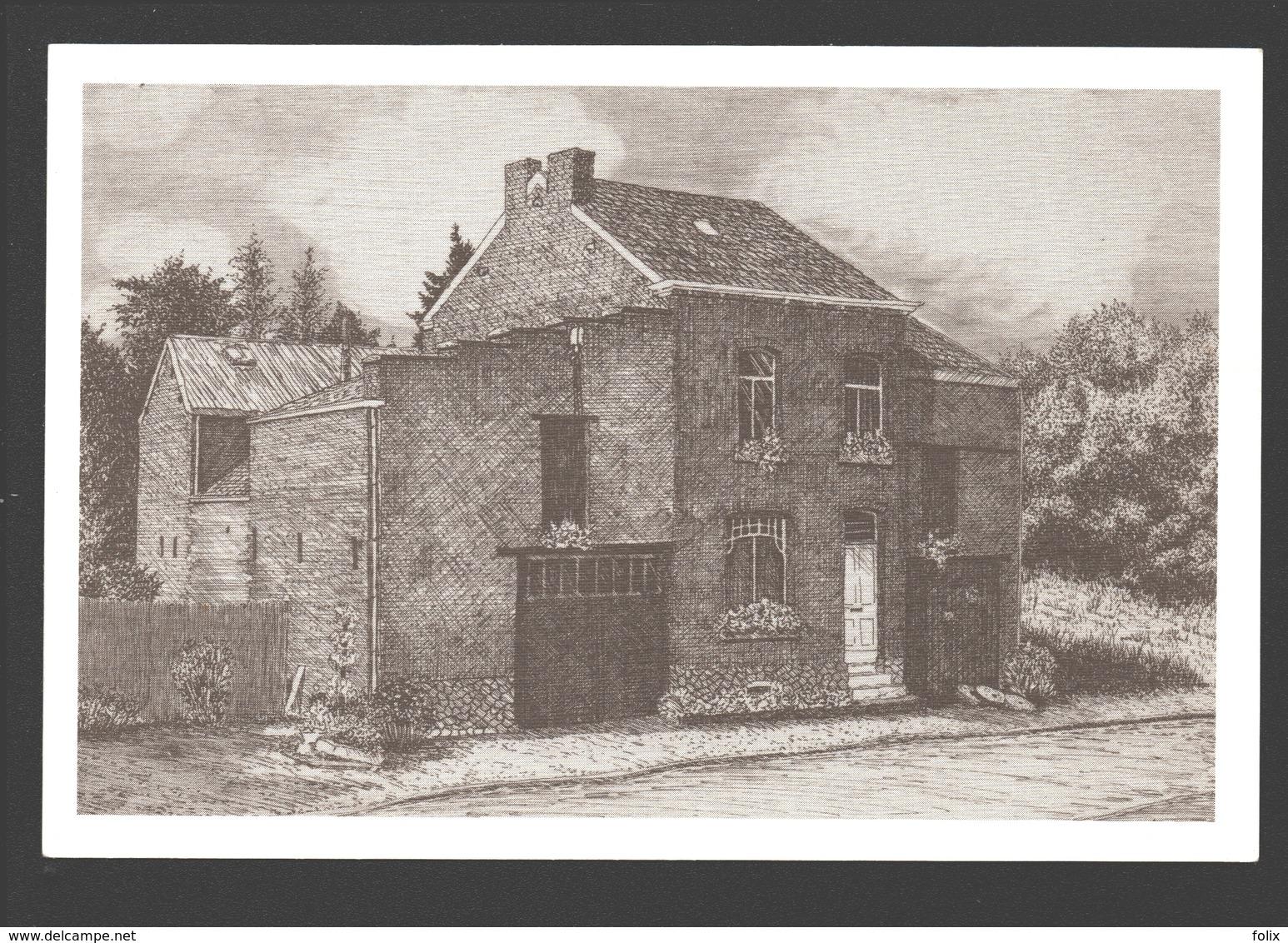 Dommartin - Le Moulin Moreau - Dessin à La Plume Ph. Collin - Ed. Dommartin Village Fleuri - Papier De Lin - Saint-Georges-sur-Meuse
