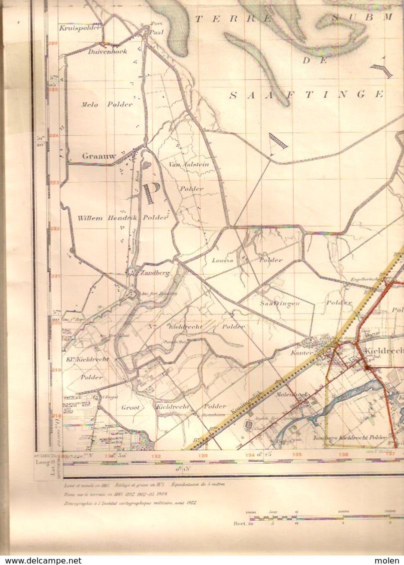 KAPELLEN Situatie 1863-1909 MILITAIRE STAFKAART 7 SCHELDE KALMTHOUT BRASSCHAAT OORDEREN BERENDRECHT DOEL KIELDRECHT S363 - Kapellen