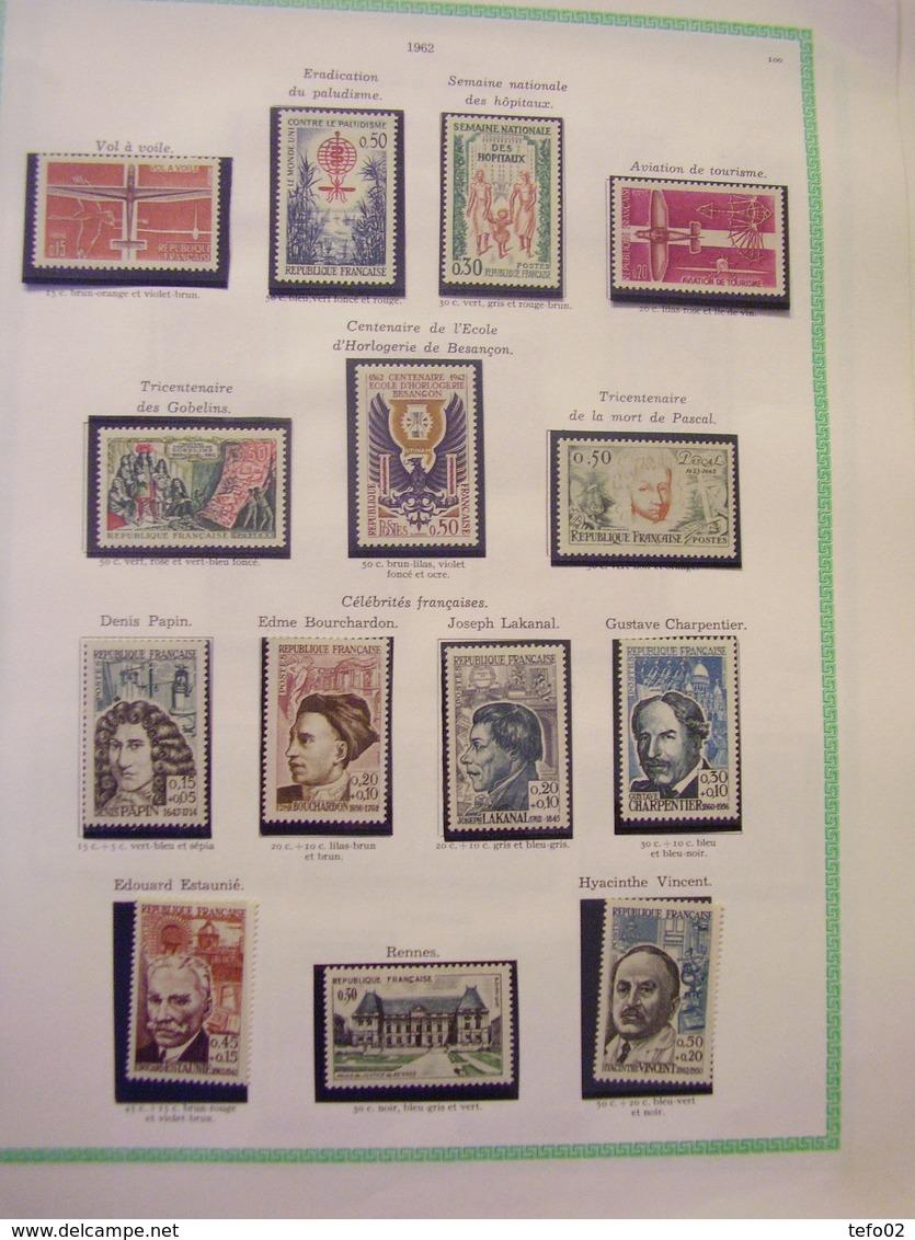 Francia. Collezione MNH/MLH Dal 1900 Al 1975. Descrizione. 60 Foto - France