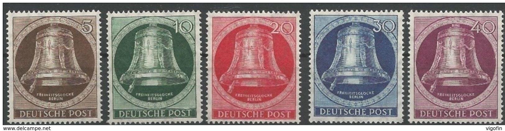 BERLIN Mi 75-9 Postfrisch **, MNH - Berlin (West)