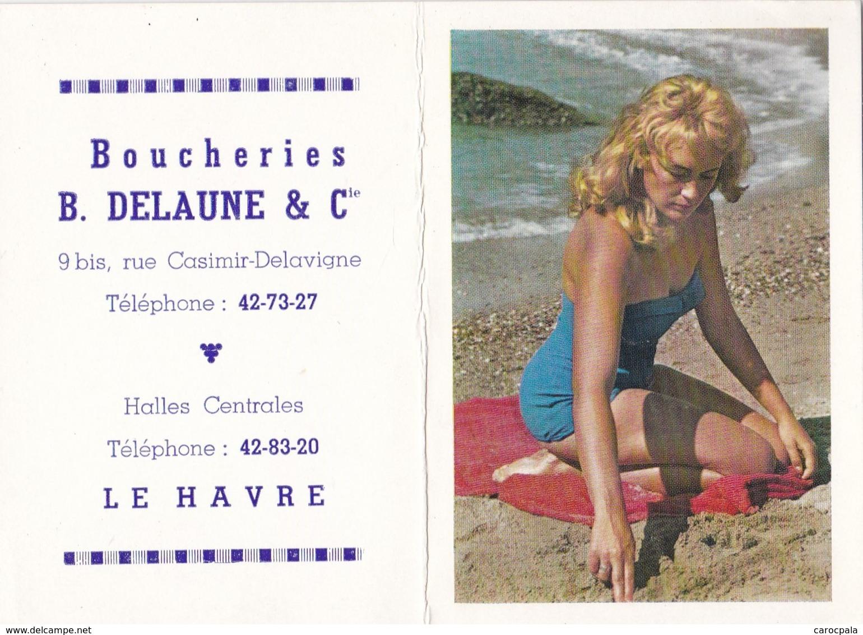 Calendrier 1964 Publicité Boucherie Delaune Rue Casimir Delavigne Le Havre - Calendriers