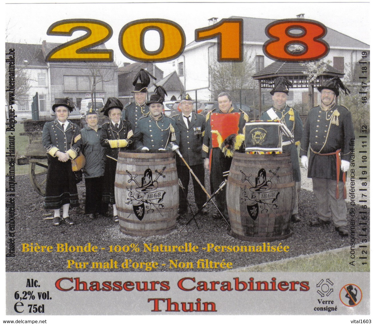 Bieretiket België 893 - Bière