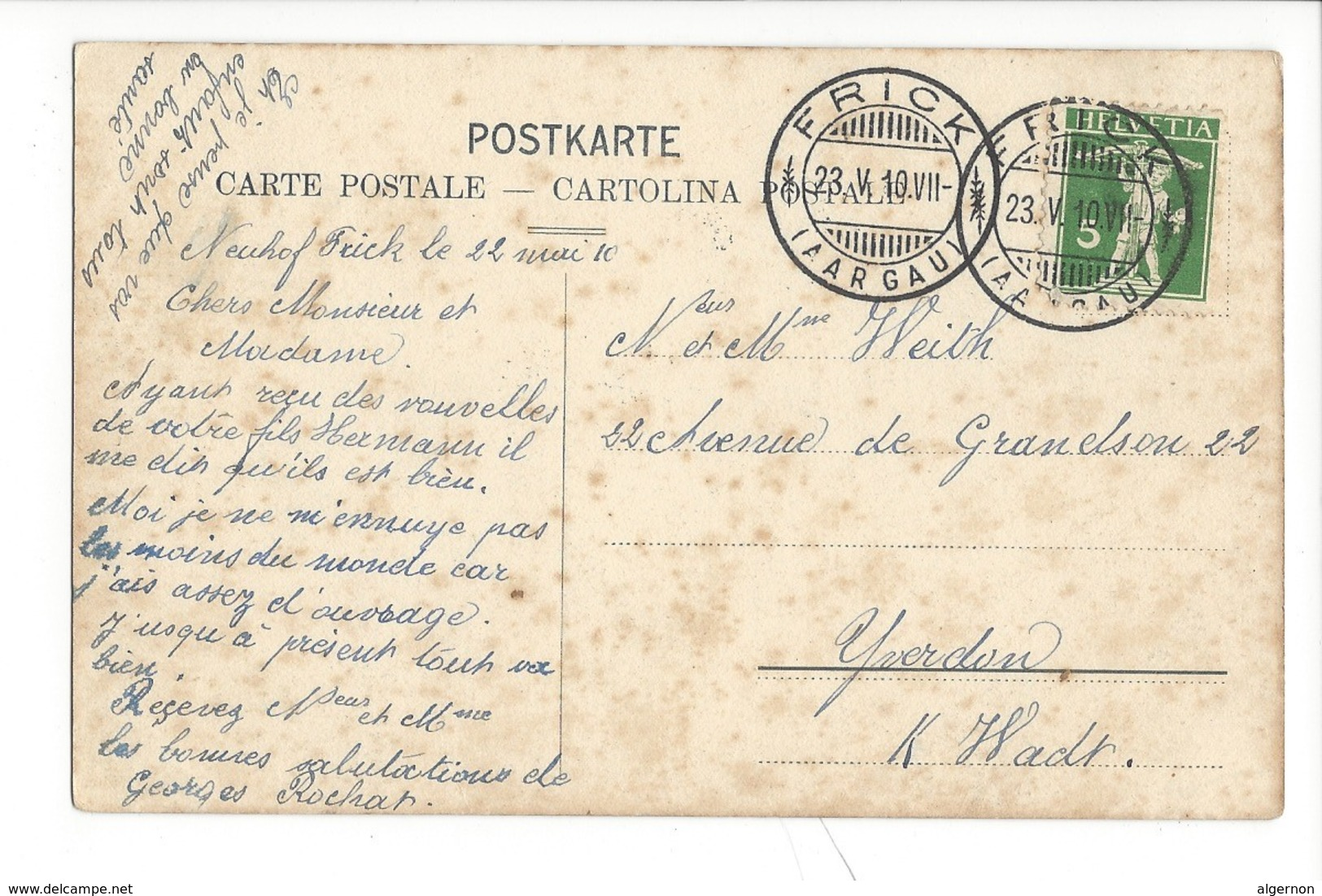 20722 - Frick Vue Générale 1910 - AG Argovie