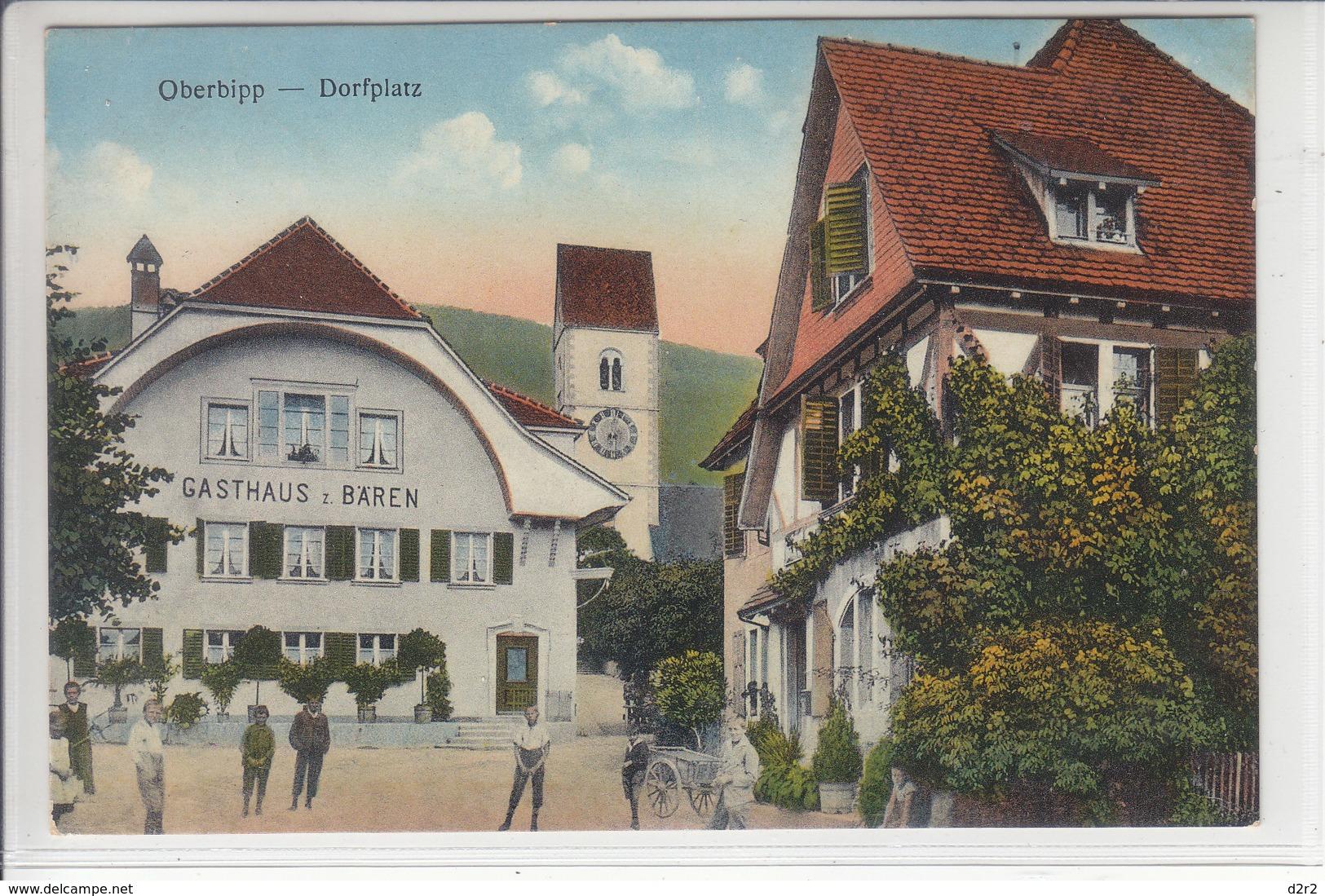 OBERBIPP - DORFPLATZ - ANIMATION - 1930 - BE Berne