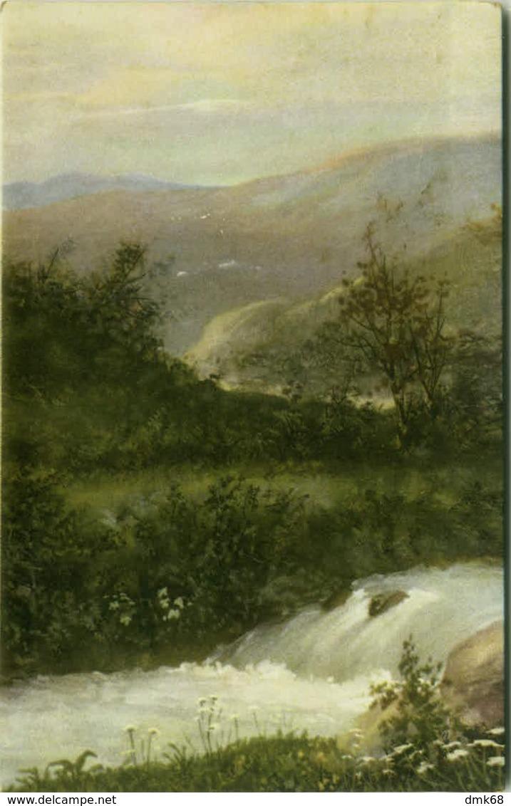 EUGENIO CECCONI SIGNED POSTCARD - LANDSCAPE - EDIT BALLERINI & FRATINI N.125 - MAILED FROM CALITRI 1934 (BG1077) - Illustrateurs & Photographes
