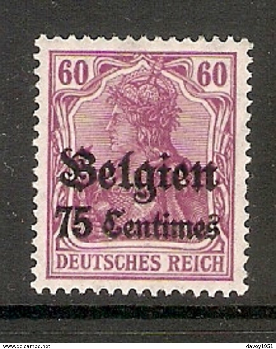 006525 German Occupation Of Belgium 1914 75c MH - Belgische Zone