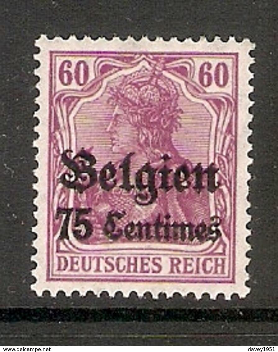 006525 German Occupation Of Belgium 1914 75c MH - Belgian Zone