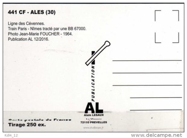 AL 441 - Train - Loco BB 67000 - ALES - Gard 30 - SNCF - Alès