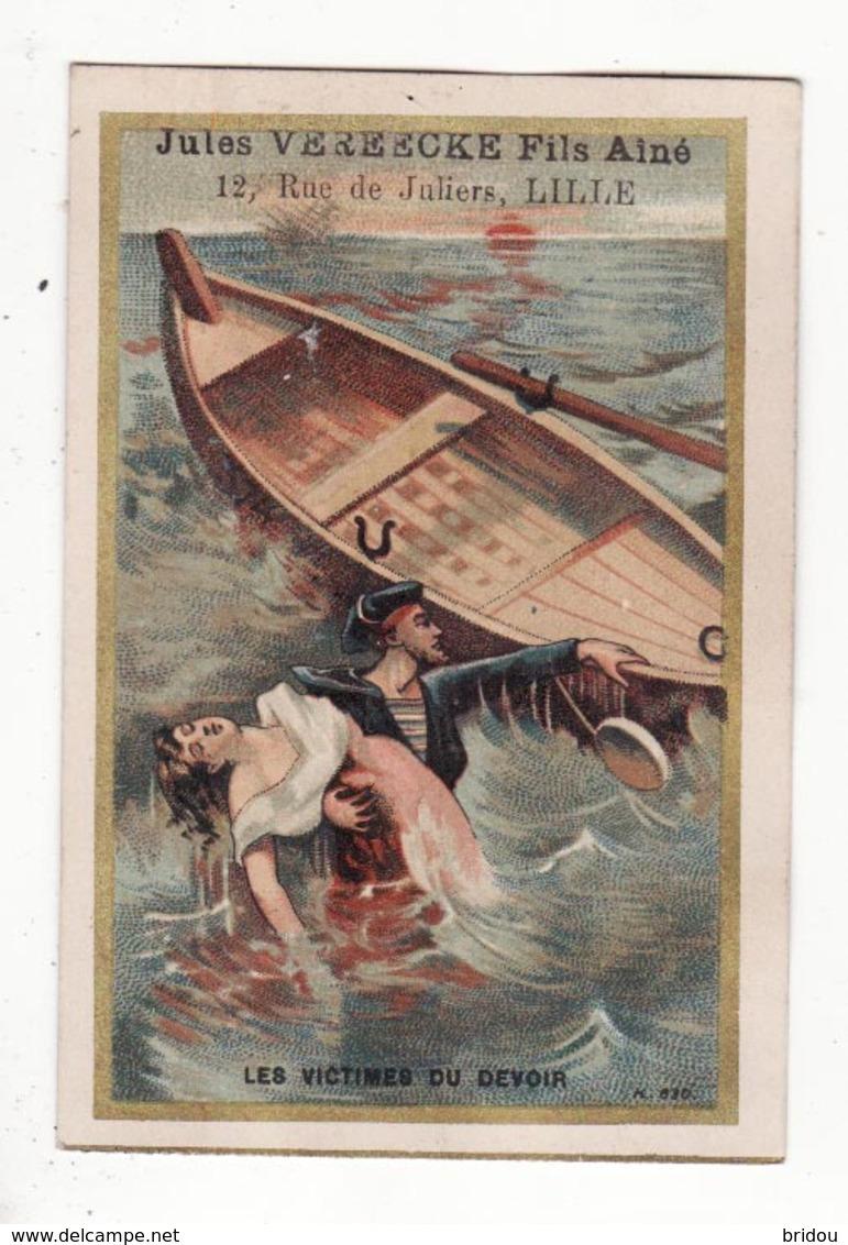 Chromo  CHAUSSURES VEREECKE  à Lille   Femme Et Marin En Mer - Trade Cards