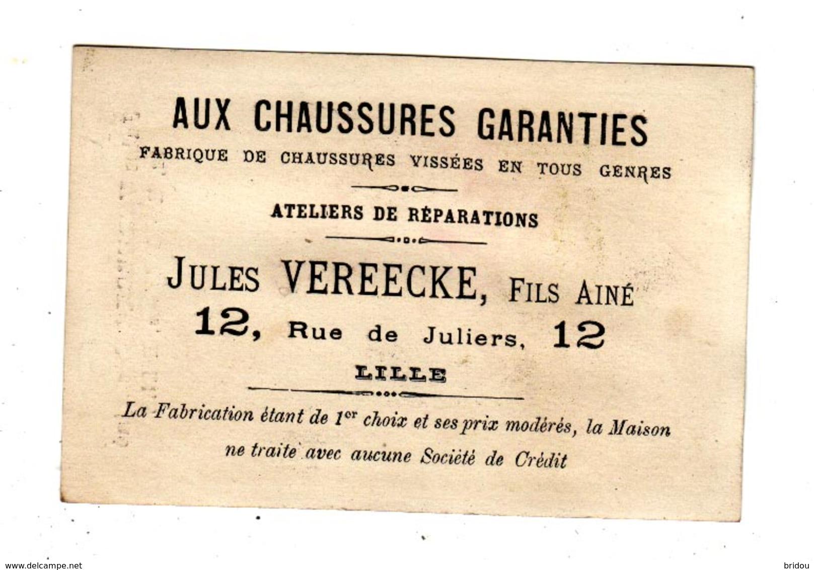 Chromo  CHAUSSURES VEREECKE  à Lille   Femme Et Marin En Mer - Other