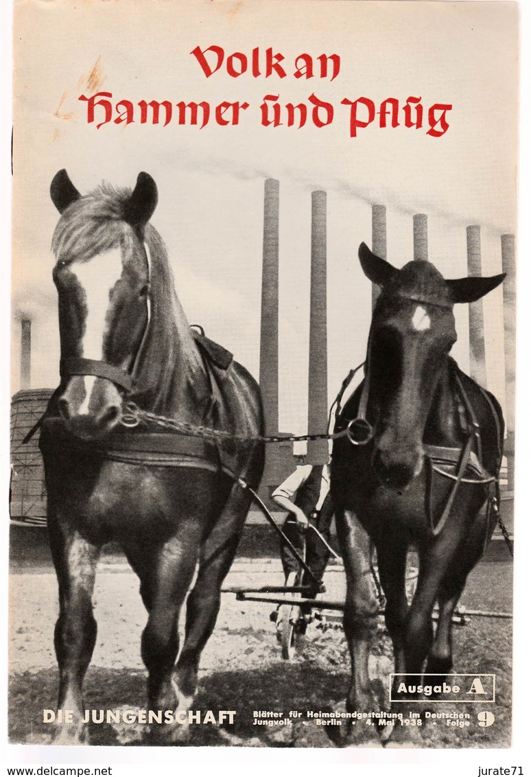 Die Jungenschaft,Folge 9, Ausgabe A, 1938, Magazines For Hitlerjugend, Heimabend Jungvolk, HJ, Pimpf - Hobby & Verzamelen