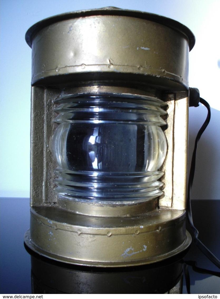 ANCIEN FANAL LAMPE DE MARINE OLD NAVY LAMP - Decoración Maritima