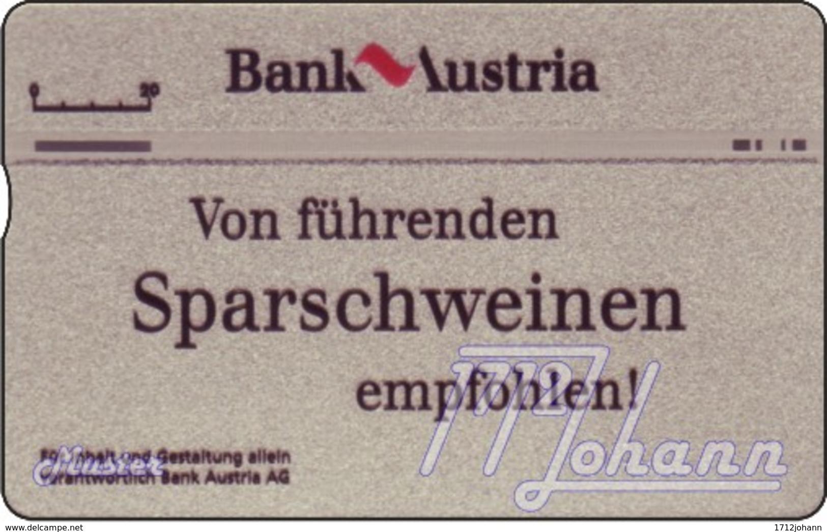 """TWK Österreich Privat: """"Sparschwein A"""" Gebr. - Oesterreich"""