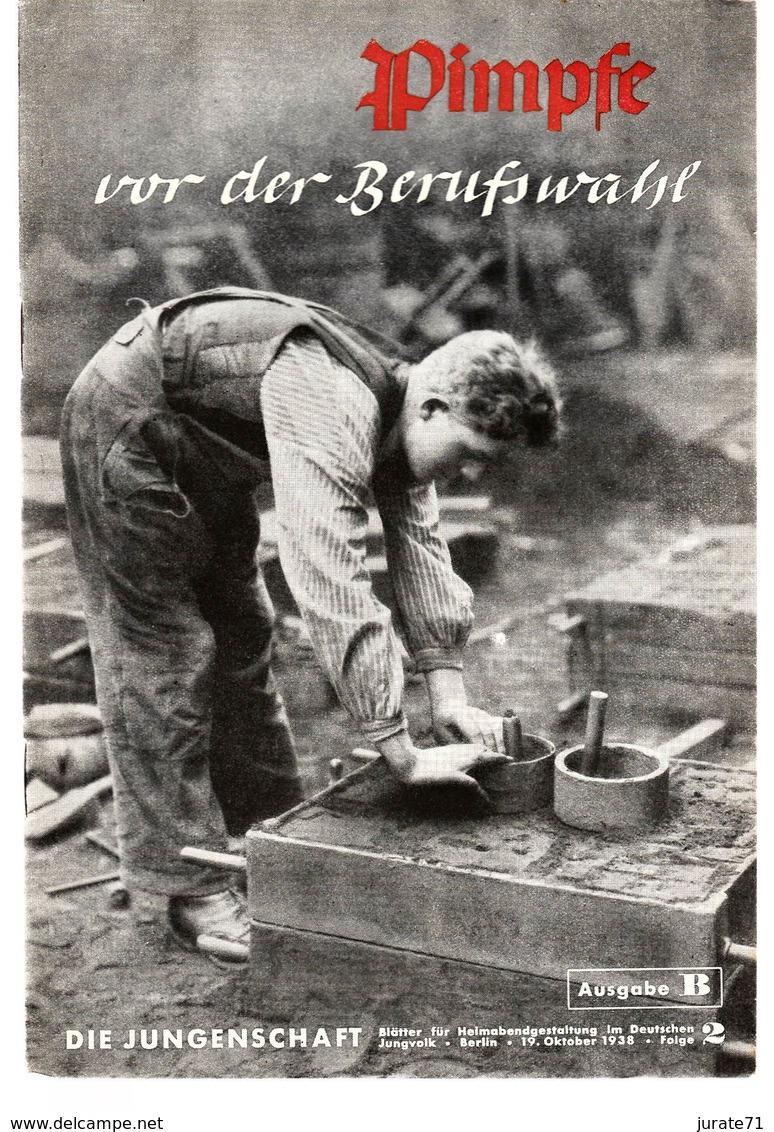 Die Jungenschaft,Folge 2, Ausgabe B, 1938, Magazines For Hitlerjugend, Heimabend Jungvolk, HJ, Pimpf - Hobbies & Collections