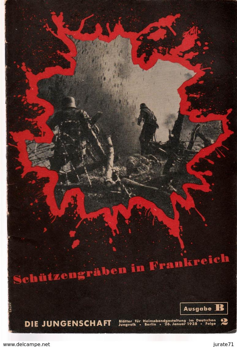 Die Jungenschaft,Folge 2, Ausgabe B, 1938, Magazines For Hitlerjugend, Heimabend Jungvolk, HJ, Pimpf - Hobby & Verzamelen