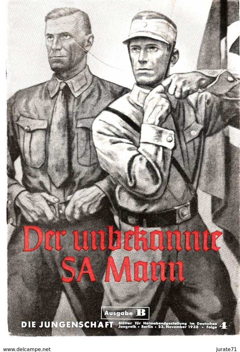 Die Jungenschaft,Folge 4, Ausgabe B, 1938, Magazines For Hitlerjugend,SA-Mann, Heimabend Jungvolk, HJ, Pimpf - Hobby & Verzamelen
