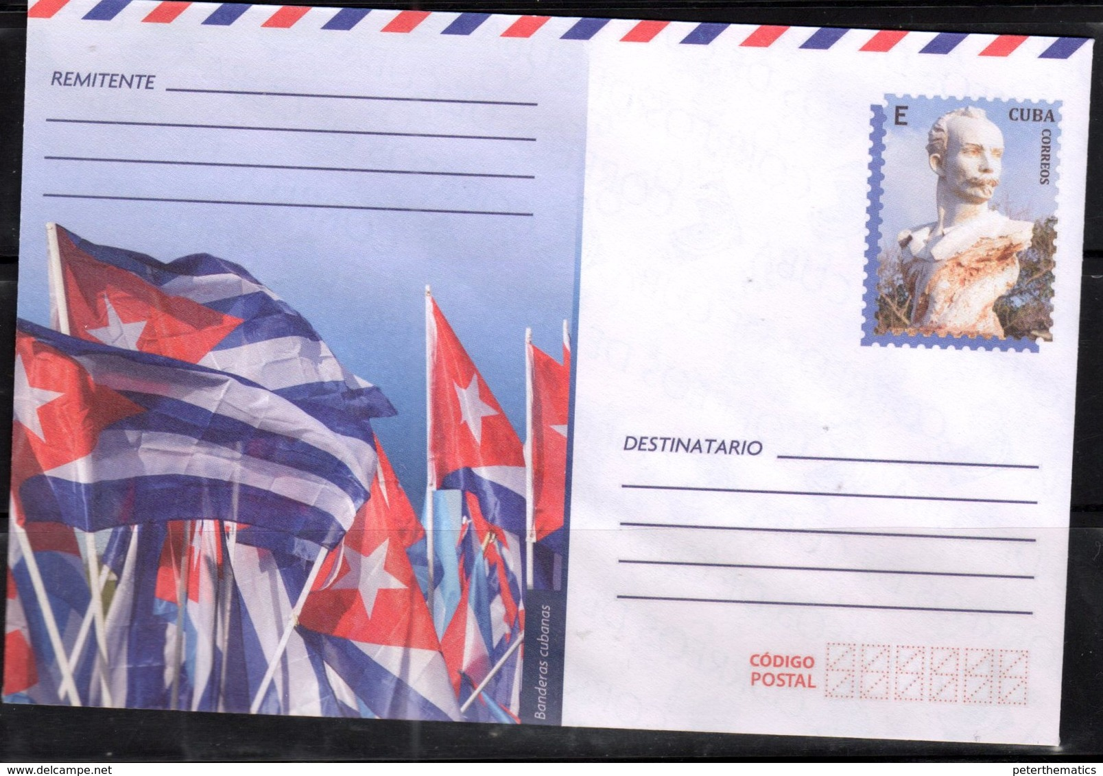 POSTAL STATIONERY, MINT, PREPAID ENVELOPE,FLAGS, STATUES - Covers
