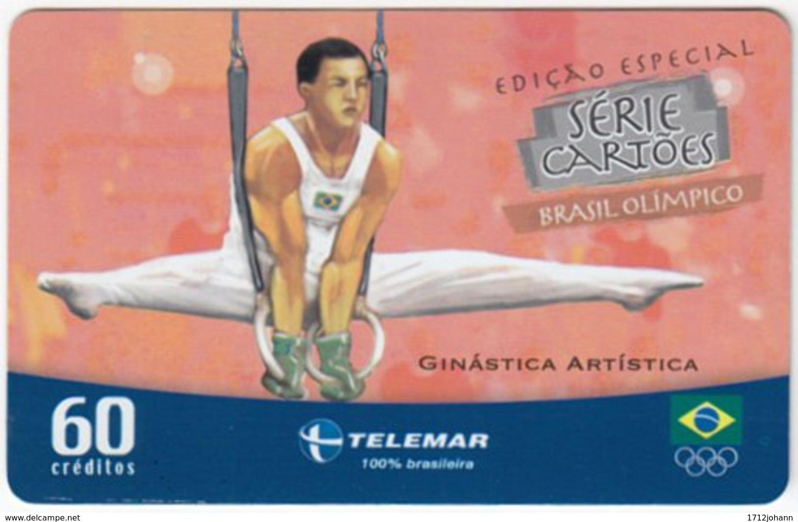 BRASIL G-443 Magnetic Telemar - Event, Olympic Games, Gymnastics - Used - Brasilien