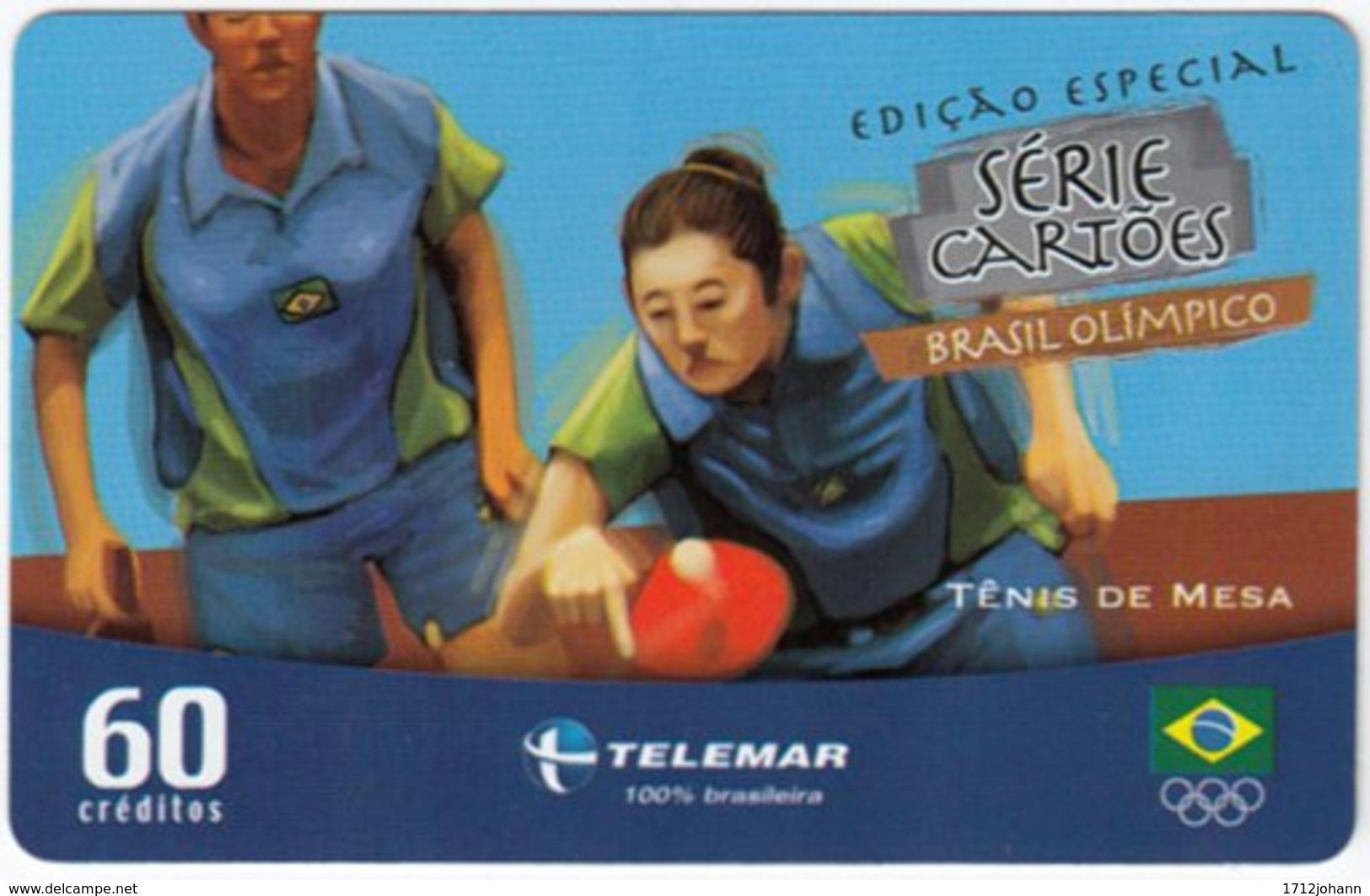 BRASIL G-473 Magnetic Telemar - Event, Olympic Games, Table Tennis - Used - Brasilien