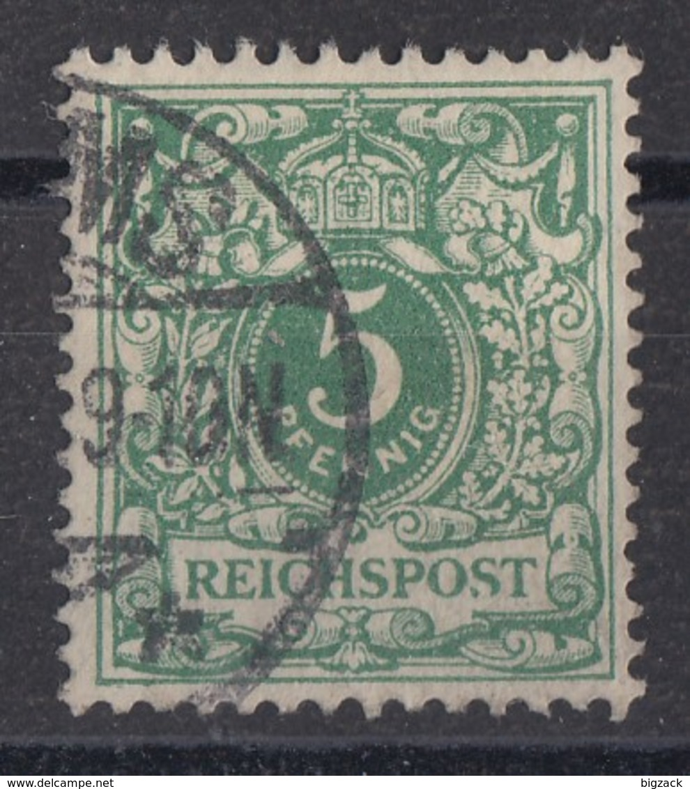 DR Minr.46 Plf.II Bruch Des S In Reichspost Gestempelt - Deutschland