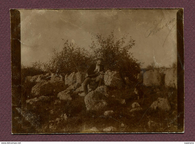 """CHASSIGNY  (52) : """" UN CHASSEUR """"  Carte Photo 1902 - Autres Communes"""