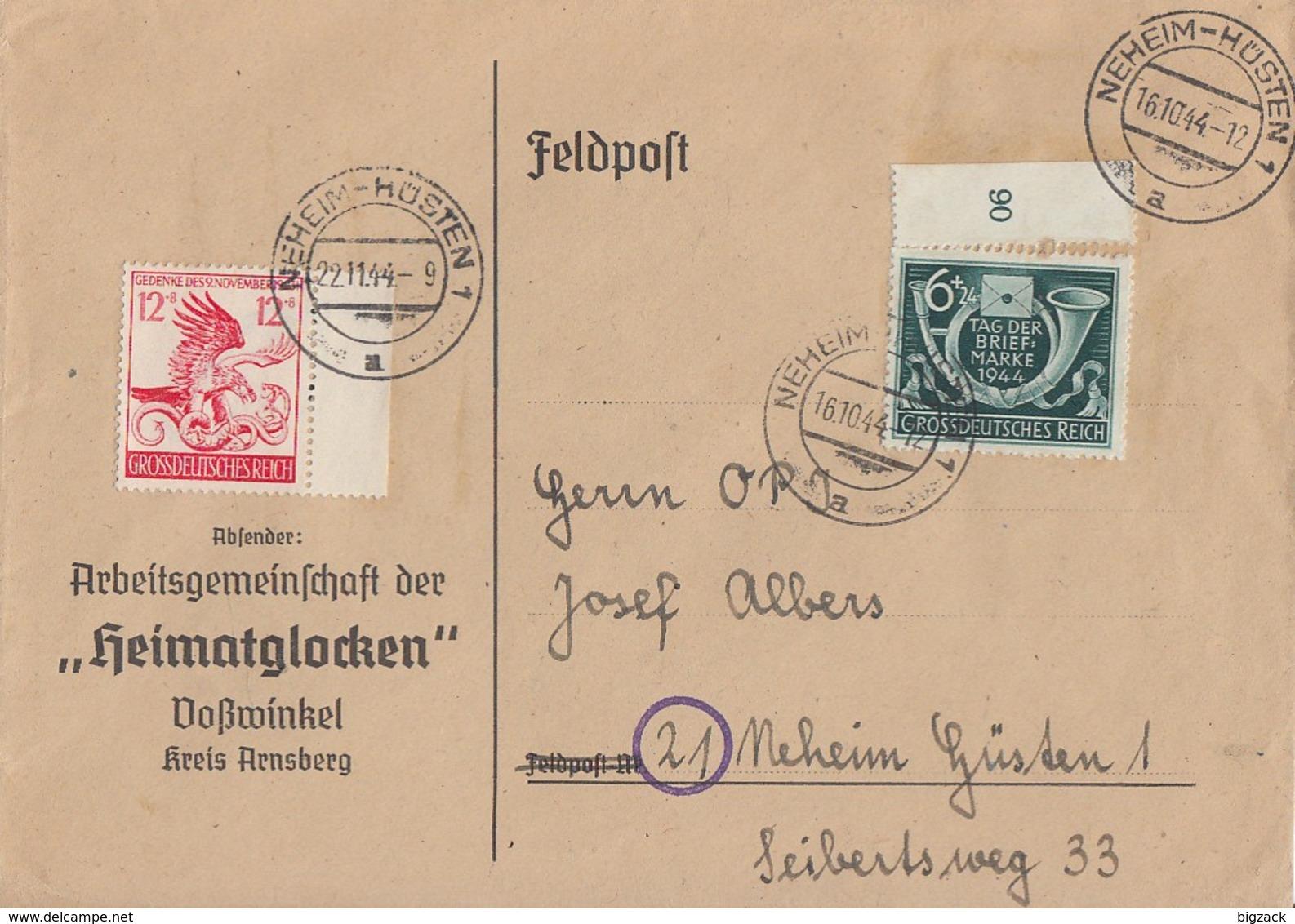 DR R-Brief Mif Minr.904,906 Neheim-Hüsten 22.11.44 - Deutschland