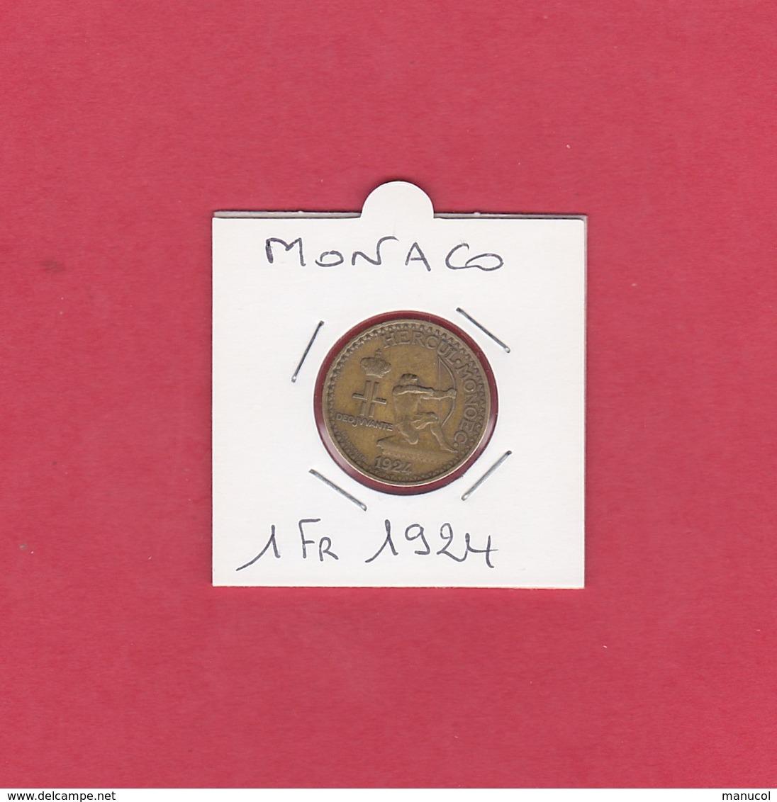 MONACO - 1 FRANC CREDIT FONCIER DE 1924 - Monaco