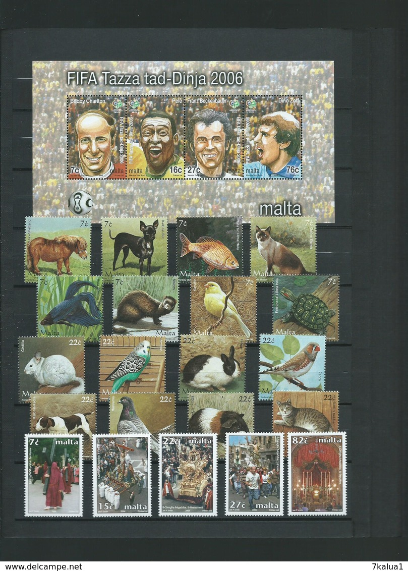 MALTE, Collection N°2. TP Tous Neufs** Luxe Sur 9 Pages, Cote 417 €, Période 2003 - 2009. - Collections (en Albums)