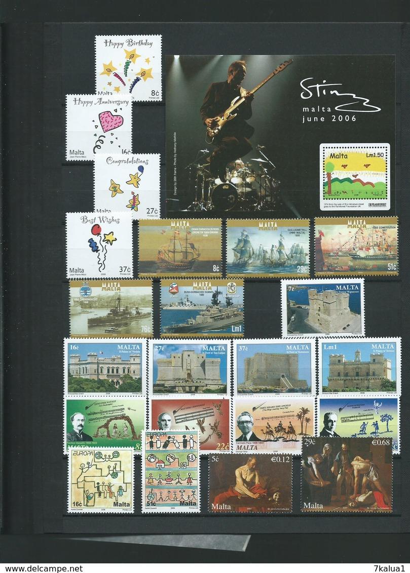 MALTE, Collection N°2. TP Tous Neufs** Luxe Sur 9 Pages, Cote 417 €, Période 2003 - 2009. - Timbres